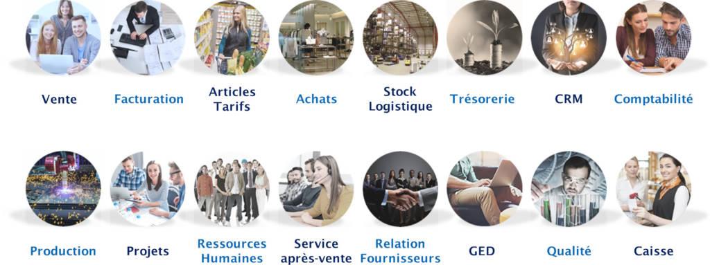 Les modules de l'ERP SIMAX